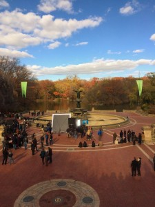 Bethesda Fountain and the set of John Wick 2